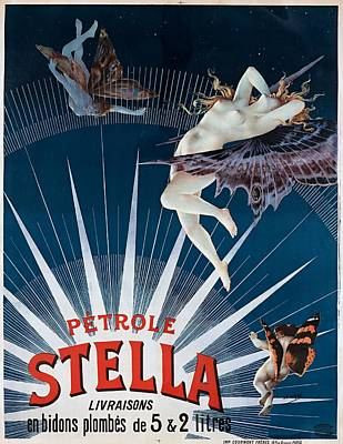Advertisment Painting - Petrole Stella Advertising Poster 1897 by WPA poster