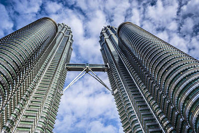 Handcarved Photograph - Petronas Tower by Jijo George