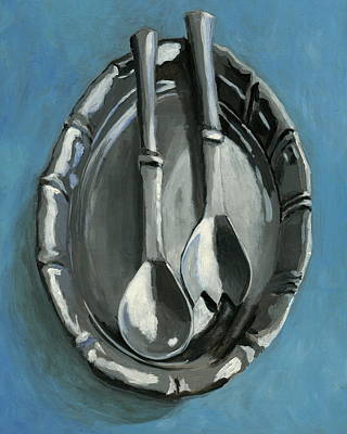 Daily Painter Painting - Pewter Dish by Karyn Robinson