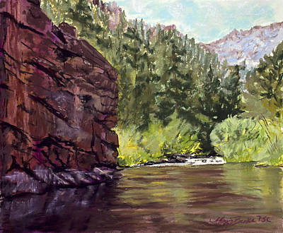 Water Painting - Phantom Canyon by Mary Benke