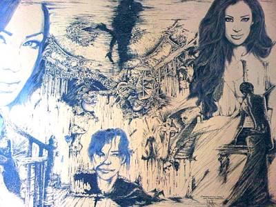 Drawing - Phantom Of The Opera by Robert Art