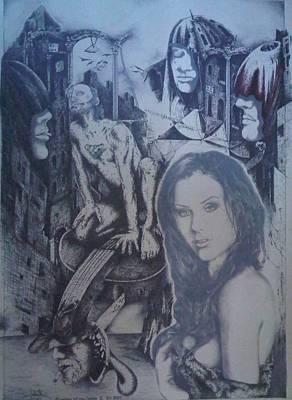 Drawing - Phantom Of The Oprra II by Robert Art