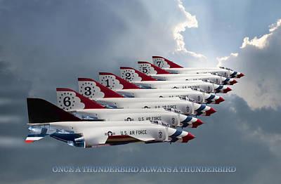 Mcdonnell Digital Art - Phantom Team Thunderbirds by Peter Chilelli