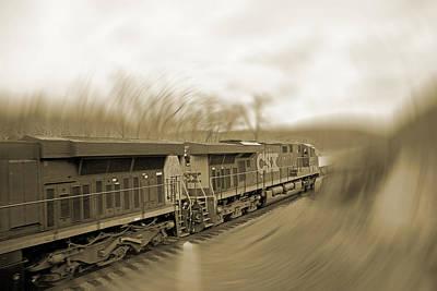 Phantom Train Print by Betsy C Knapp