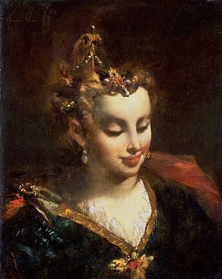 Pharaohs Daughter, After Palma Il Print by Giovanni Antonio Guardi