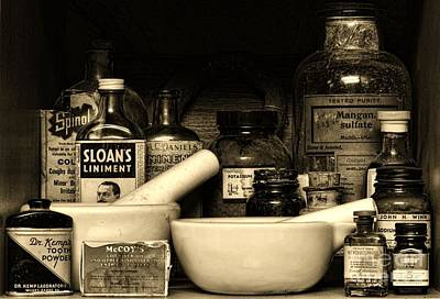 Mortar And Pestle Photograph - Pharmacy - Cod Liver Oil And More by Paul Ward