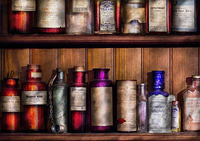 Pharmaceutical Photograph - Pharmacy - Ingredients Of Medicine  by Mike Savad