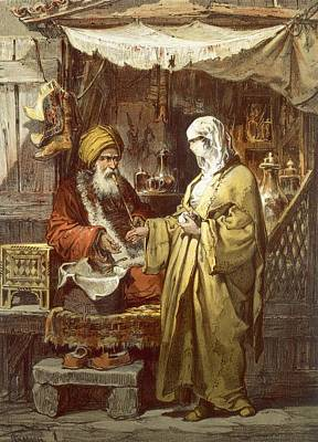 Pharmacy Or Drug Shop, 1865 Print by Amadeo Preziosi