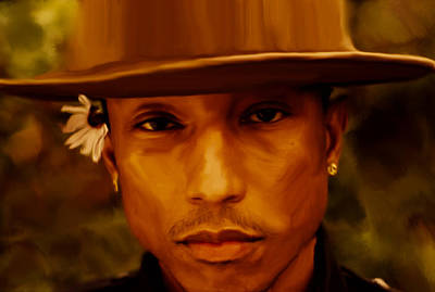 Hightower Painting - Pharrell Williams Happy by Brian Reaves