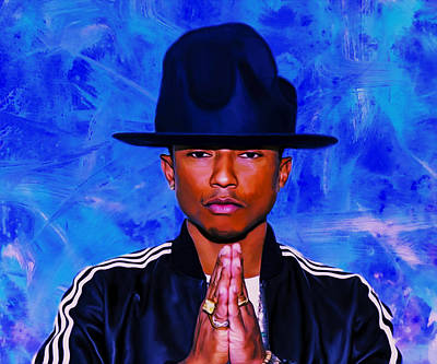 Hightower Painting - Pharrell Williams Peace On Earth by Brian Reaves
