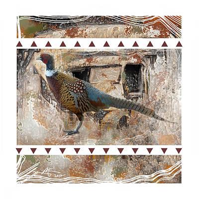 Pheasant Mixed Media - Pheasant Design by Bob Salo