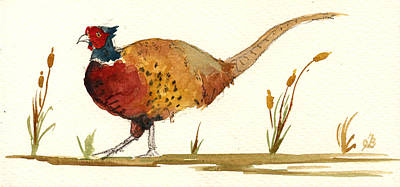 Pheasant Original by Juan  Bosco