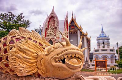 Phetchaburi Temple 04 Print by Antony McAulay