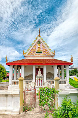 Phetchaburi Temple 07 Print by Antony McAulay