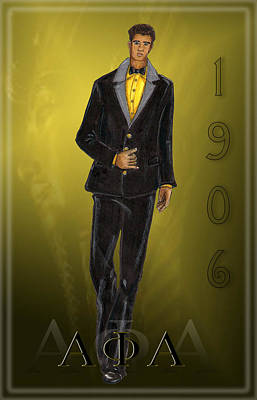 Alpha Phi Alpha Print by BFly Designs