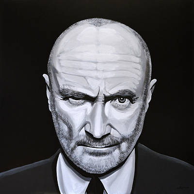 Drummer Painting - Phil Collins by Paul Meijering