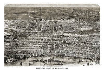 Pennsylvania Drawing - Philadelphia - Pennsylvania - 1872 by Pablo Romero