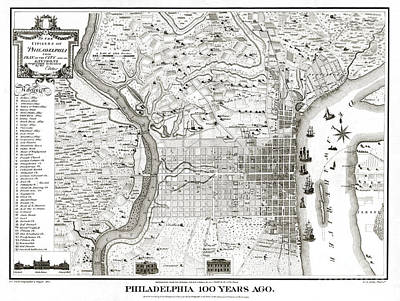 Pennsylvania Drawing - Philadelphia - Pennsylvania - United States - 1875 by Pablo Romero