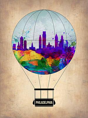 Philadelphia Air Balloon Print by Naxart Studio