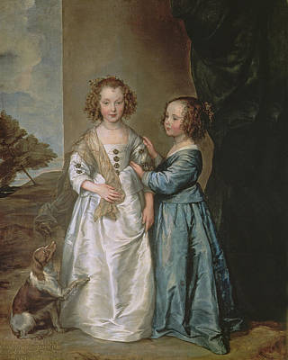 Philadelphia And Elisabeth Wharton, 1640 Print by Sir Anthony van Dyck