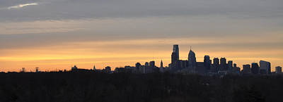 Philadelphia At Dawn Panorama Print by Bill Cannon