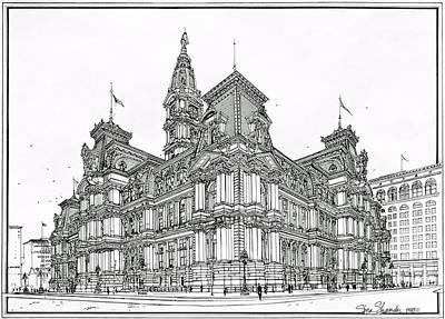 Philadelphia City Hall 1911 Print by Ira Shander