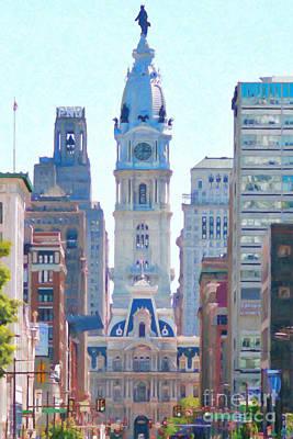 Philadelphia City Hall 20130703 Print by Wingsdomain Art and Photography