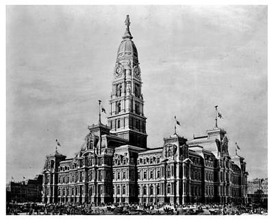 Philadelphia City Hall Print by Benjamin Yeager