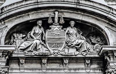 Phillies Digital Art - Philadelphia City Hall - City Seal  by Bill Cannon