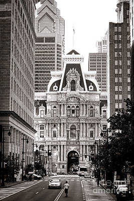 Phillies Photograph - Philadelphia City Hall by Olivier Le Queinec