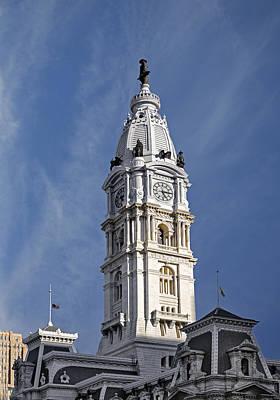 Philadelphia City Hall Tower Print by Susan Candelario