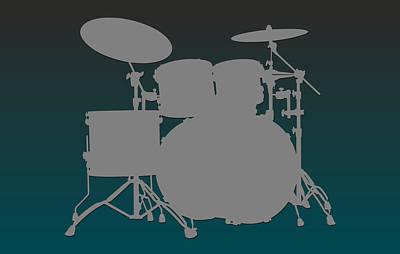 Philadelphia Eagles Drum Set Print by Joe Hamilton