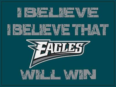 Will Photograph - Philadelphia Eagles I Believe by Joe Hamilton