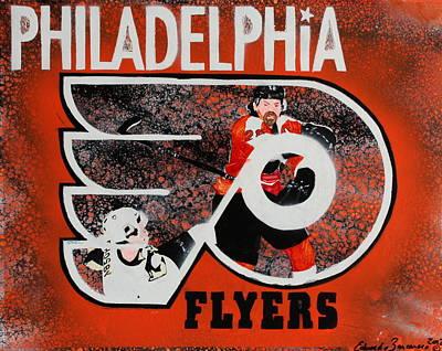 Claude Giroux Painting - Philadelphia Flyers by Eduardo Zancanaro