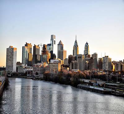 Phila Digital Art - Philadelphia In The Morning Light by Bill Cannon