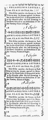 Philadelphia Lottery, 1748 Print by Granger