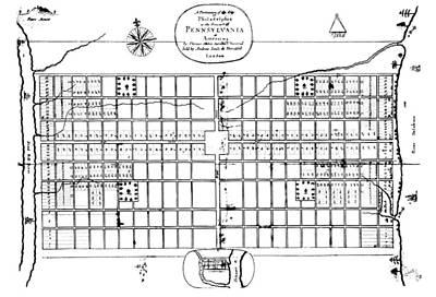 Philadelphia: Map, 1683 Print by Granger