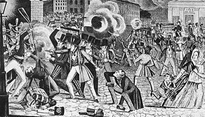 Beaver Painting - Philadelphia Nativist Riot by Granger