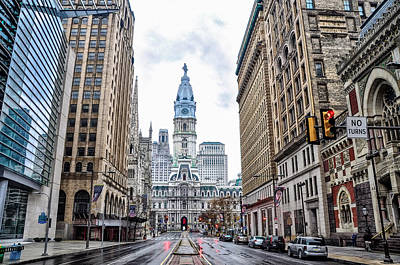William Penn Digital Art - Philadelphia North Broad Street by Bill Cannon