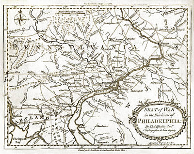 Pennsylvania Drawing - Philadelphia Region - Pennsylvania - United States - 1777 by Pablo Romero