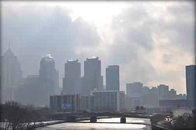 Sun Rays Digital Art - Philadelphia Schuylkill River View by Bill Cannon