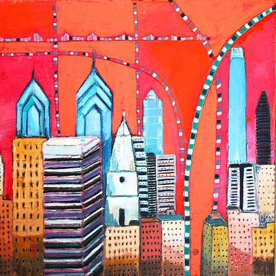 Philadelphia Skyline Print by Habib Ayat