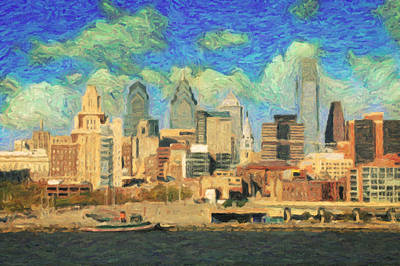 Philly Painting - Philadelphia  by Taylan Soyturk