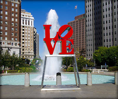Love Park Digital Art - Philadelphia's Love Park by Bill Cannon