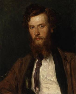 Portrait Of Eugen Von Blaas Print by Philip Richard Morris