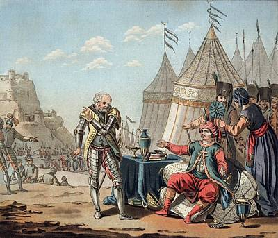 Suleimans Drawing - Philippe Villiers De Lisle-adam Refuses by Jacques Francois Joseph Swebach