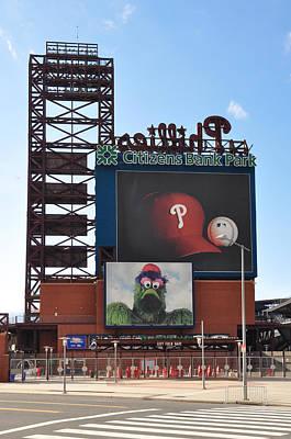 Phillies Citizens Bank Park - Baseball Stadium Print by Bill Cannon