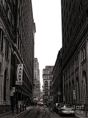 Philly Street Print by Olivier Le Queinec
