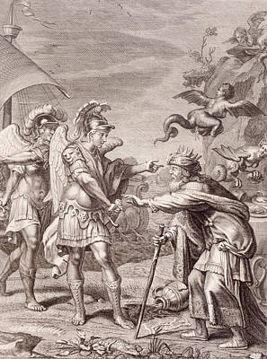 Phineus Is Delivered From The Harpies By Calais And Zethes Print by Bernard Picart