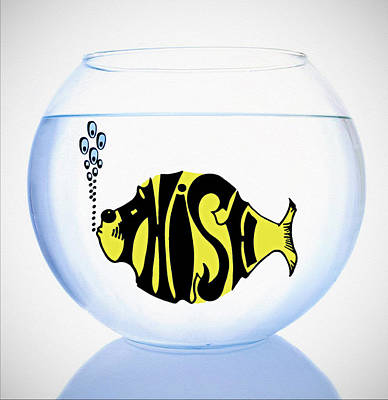 Goldfish Digital Art - Phish Bowl by Bill Cannon